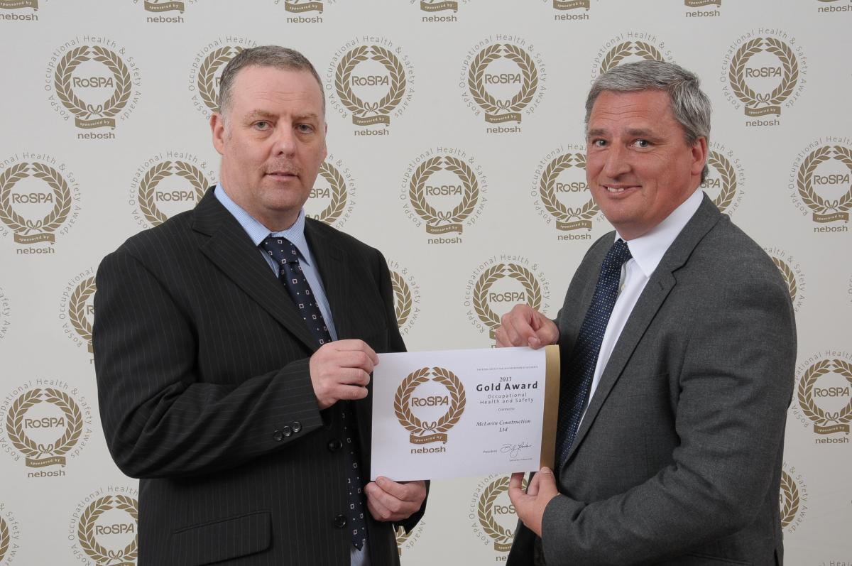 Success for McLaren at RoSPA Awards 2013
