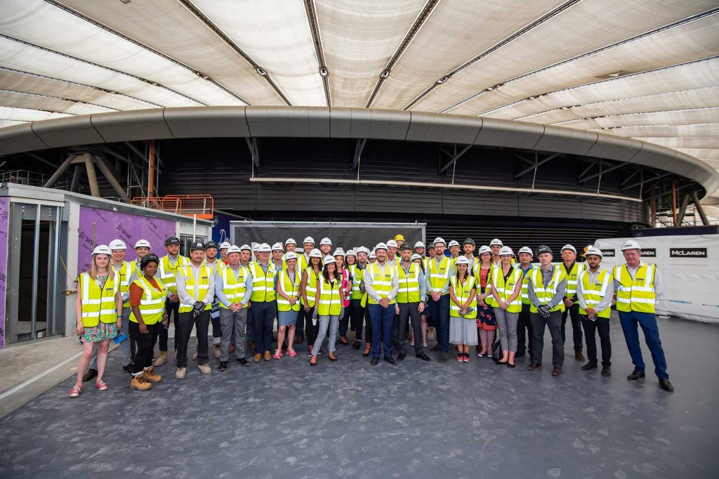 Project Loop topping out ceremony at The O2