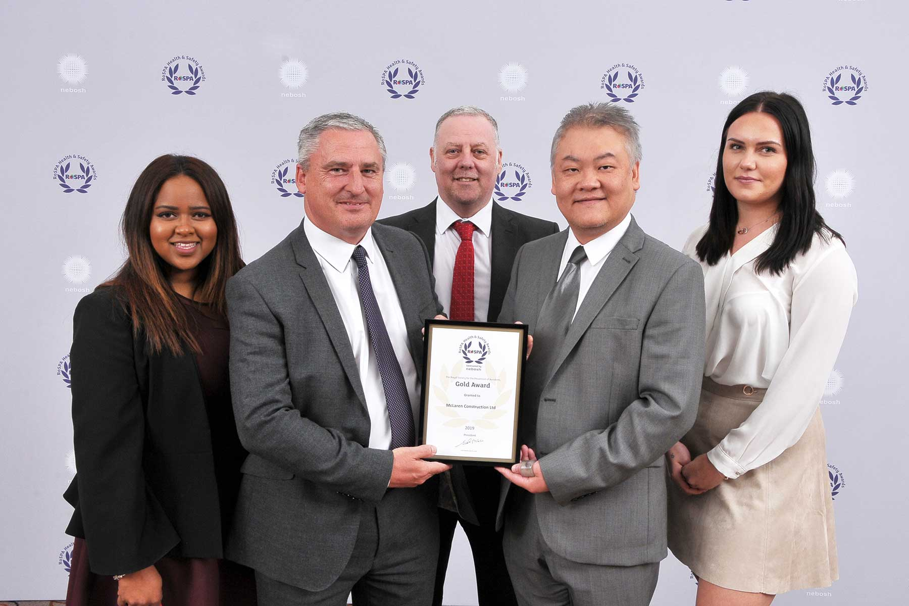 McLaren Construction RoSPA Gold Award