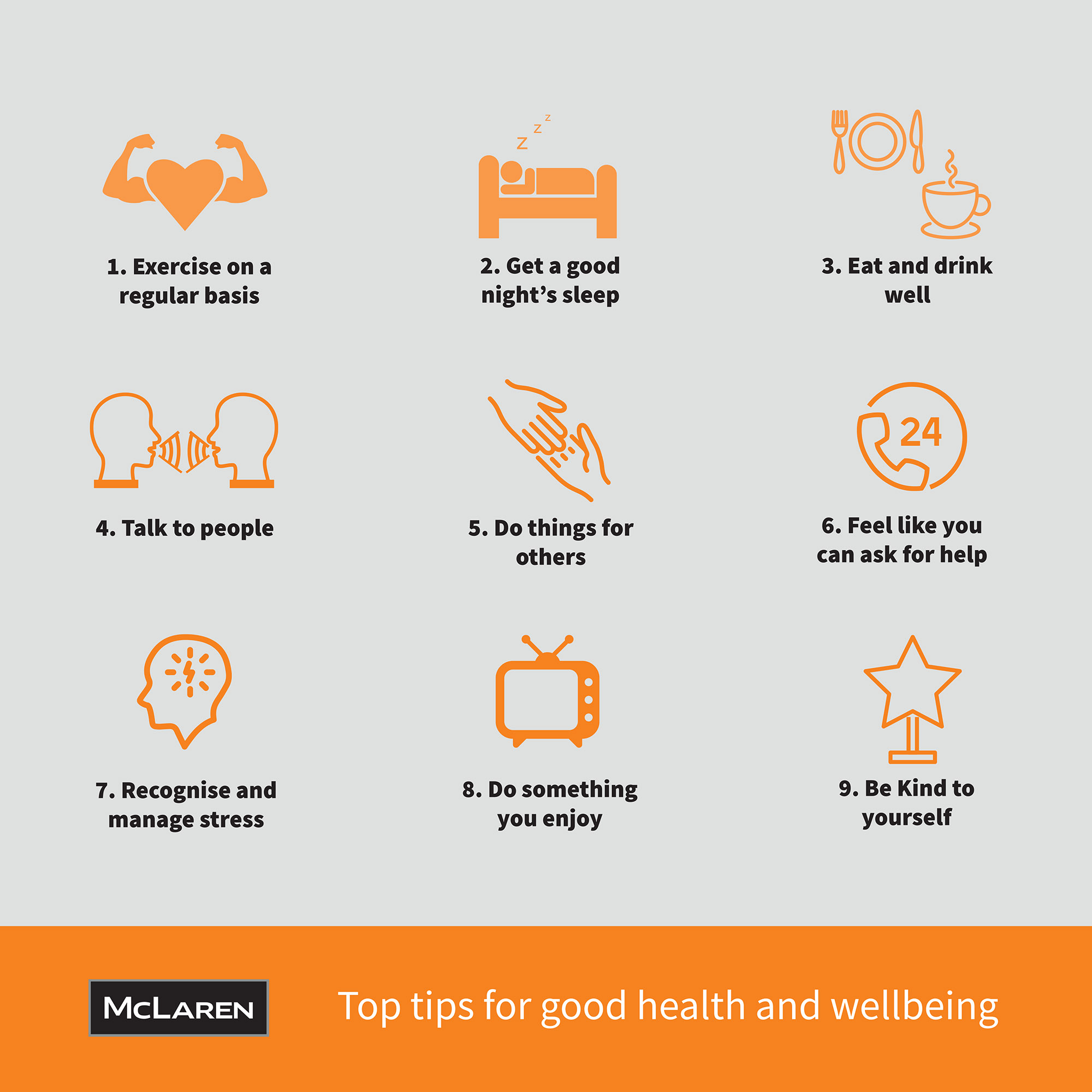 McLaren's top tips for health and wellbeing