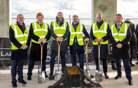 Hale-Wharf topping-out ceremony
