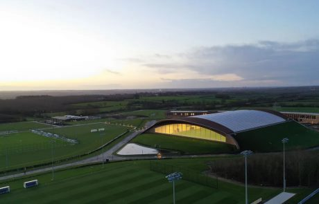 Aerial view of lcfc training ground